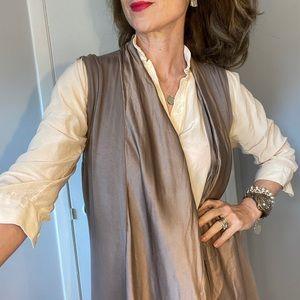 Saks Fifth Avenue silk and viscose vest size M